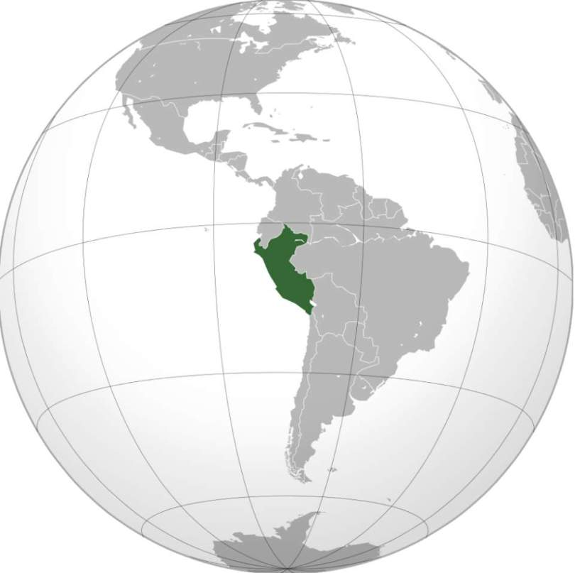 Peru (orthographic projection)