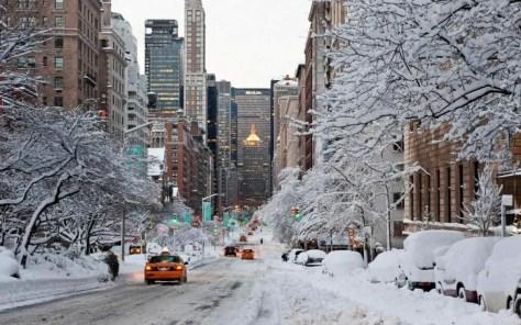 New York City in winter