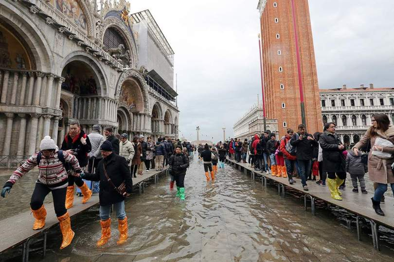High Water in San Marco Square, Venice