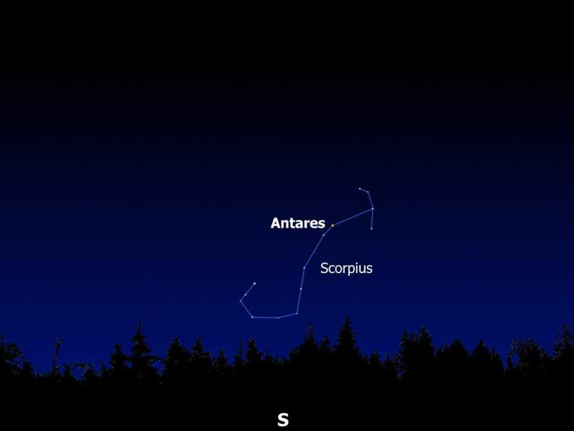 Antares in the Earth's sky