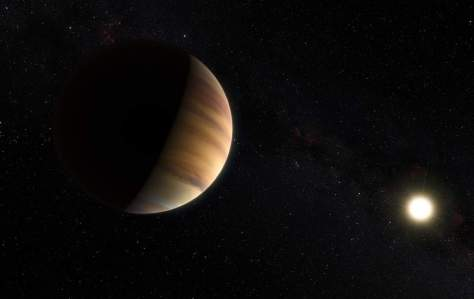 Artist's impression of the exoplanet 51 Pegasi b