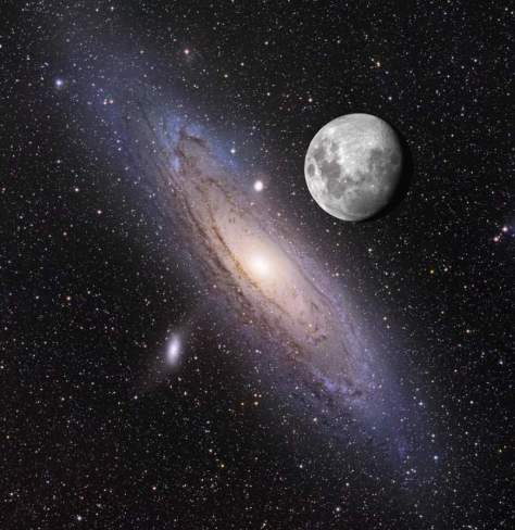 Andromeda and the Moon