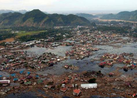 A village after 2004 Indian Ocean Tsunami
