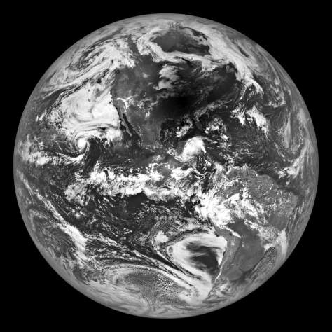 2017 Total Solar Eclipse from Moon's Orbit