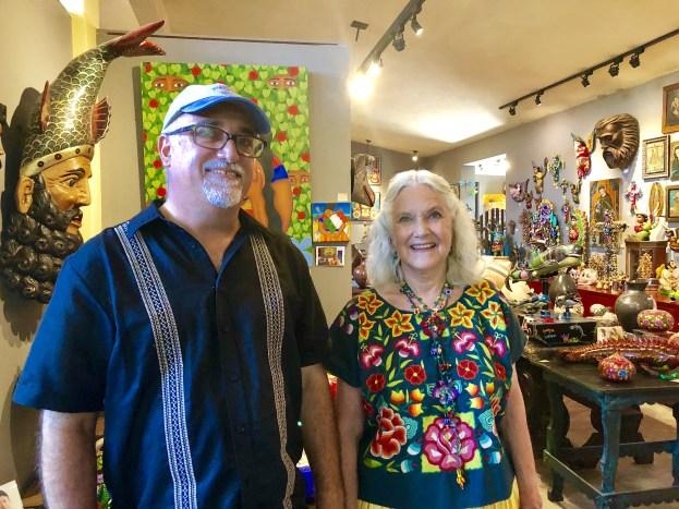 Glenn and Susan page at Galeria Atotonilco