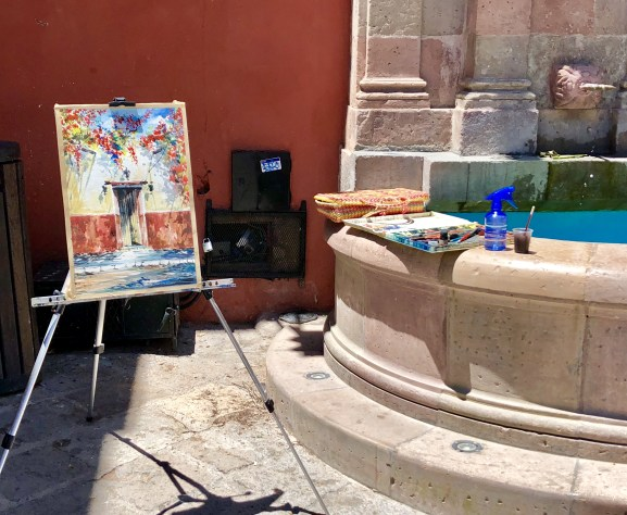 So much artwork in San Miguel de Allende