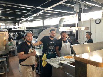 La Rustica brick oven and guys!