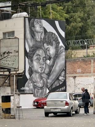 Amazing murals in Roma Norte