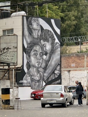Amazing murals in Roma Norte