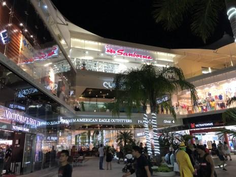 One of the glitzy malls