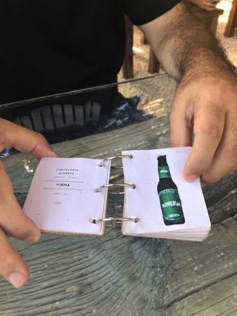 Love this tiny beer menu