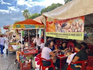 Weekend food stalls