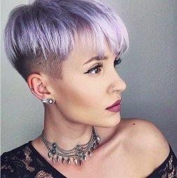 Violet/Gray haircolor