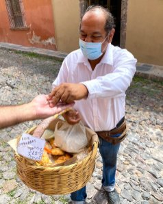 A basket of fresh empanadas