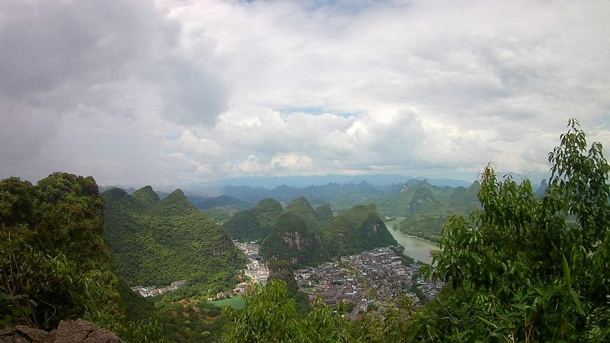 Yangshuo Panoramo Overlook Karst Mountains