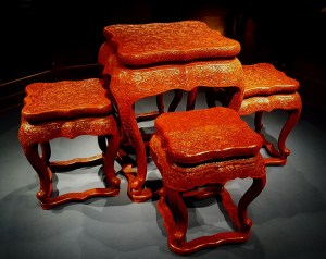 Shanghai Museum Carved Wood Table Chinese Art