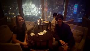 Park Hyatt Living Room Shanghai Bar Night Skyline