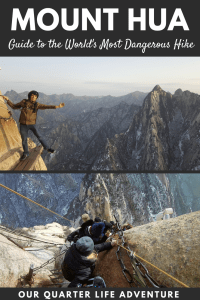 Mount Hua Guide to the World's Most Dangerous Hike Our Quarter Life Adventure Travel Blog