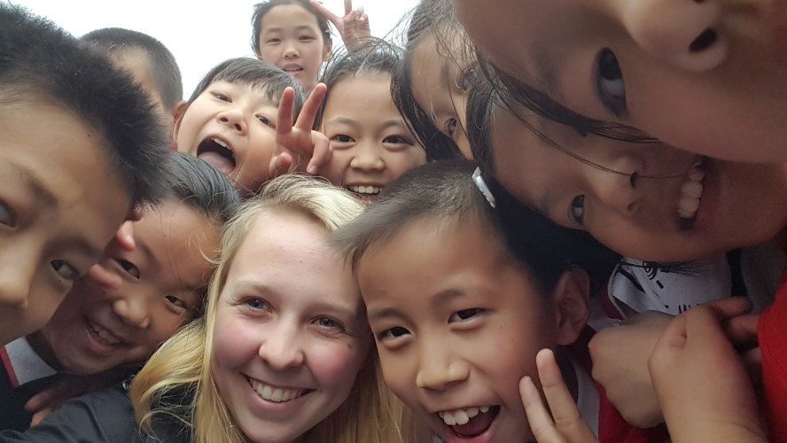 Chinese Students Sinan Guizhou China Selfie