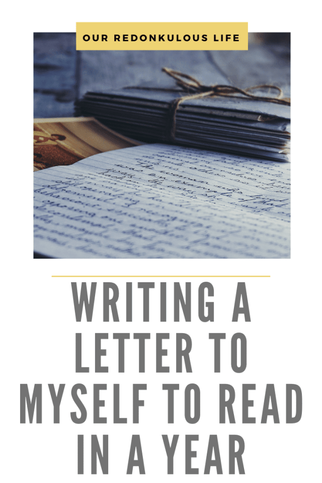 Writing a letter to myself
