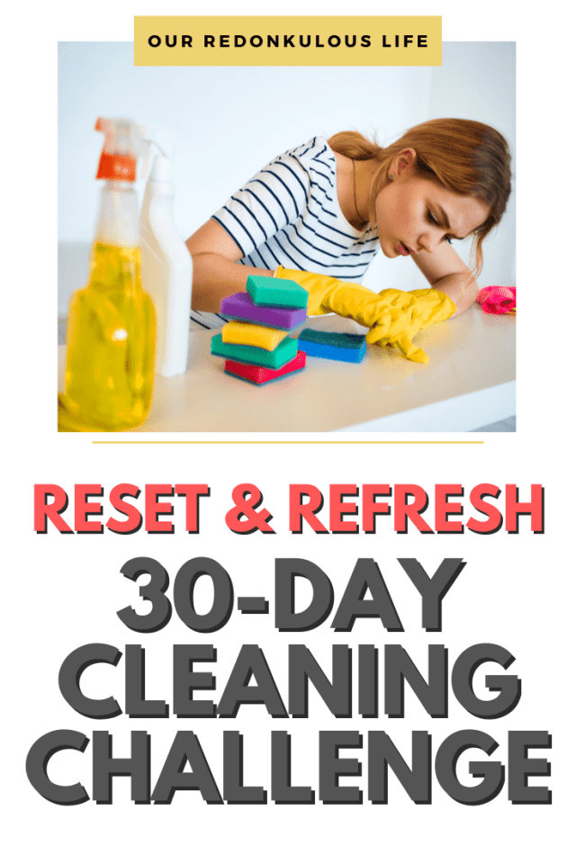 30-day Declutter and Cleaning challenge