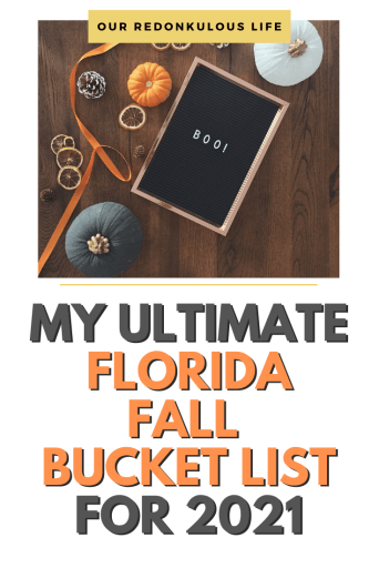 Florida Fall Bucket List