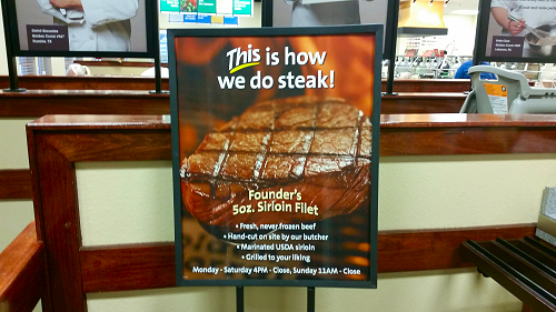 Golden Corral Steak Ad