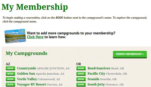 TT My Membership Page