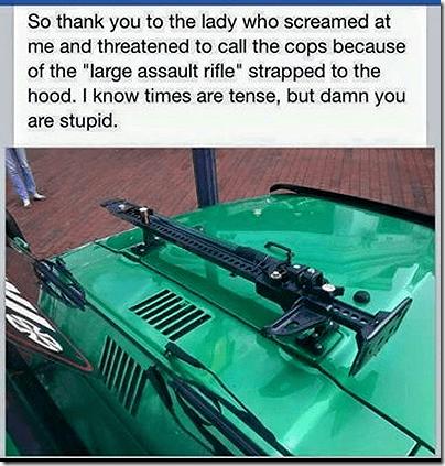 AR-15 on roof