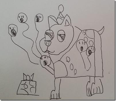 Landon's Dog with Ballons