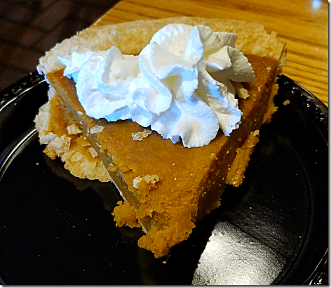 Cracker Barrel Pumpkin Pie
