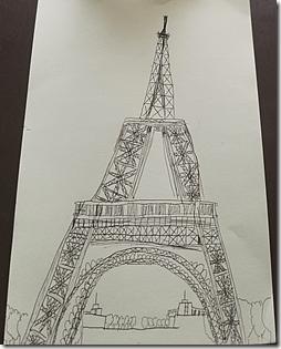 Landon Effiel Tower Drawing