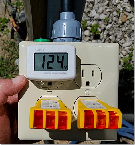50 Amp Tester at Pedestal