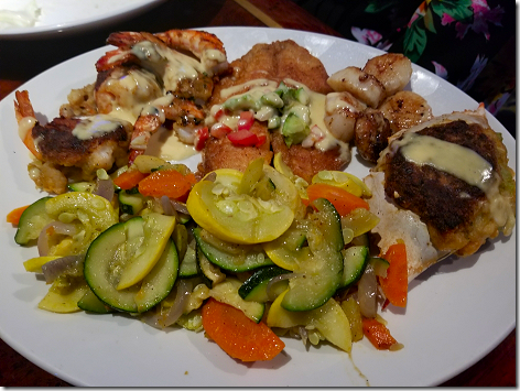 Kemah Aquarium Broiled Captain's Platter