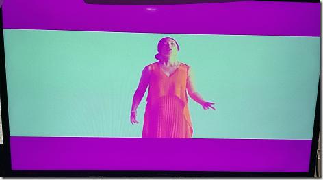 Pink TV Screen