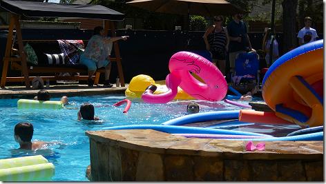 Brandi's Easter Pool Battle