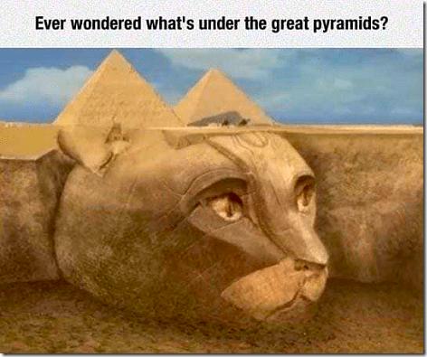 Cat Under Pyramids
