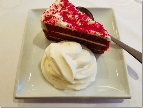 London Lancaster Gate Dinner Red Velvet