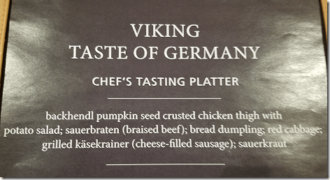 Cruising The Rhine Taste Of German Menu