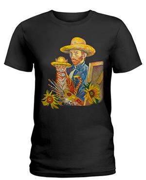 Van Gogh Cat Shirt