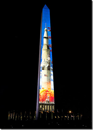 Washington Monument = Saturn 5