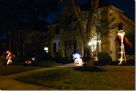 Brandi's Halloween Decorations Night