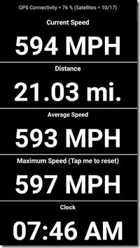 NY Trip Speedometer