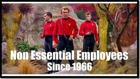 Star Trek Non Essential Employees