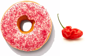 Dunkin Donuts Ghost Pepper Donut