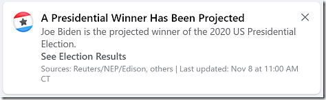 Facebook Projected Winner