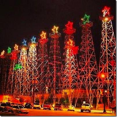 Oil Rig Christmas Trees
