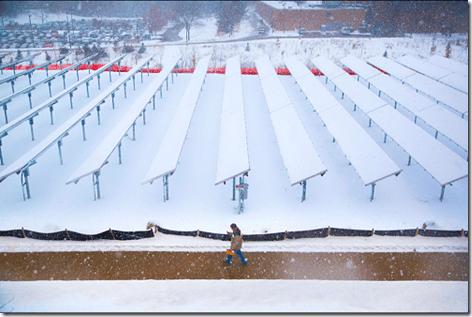 Snowed In Solar Panels