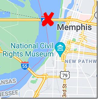 Memphis Map Route