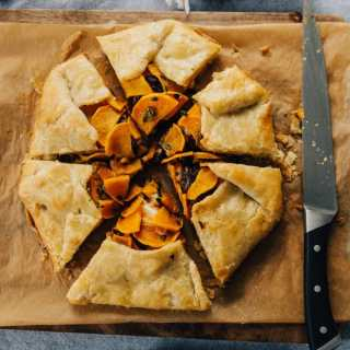 Butternut Squash Galette with Caramelized Onions